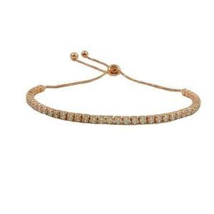 NWT Savvy Cie adjustable bracelet- 18K Rose gold
